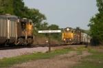 UP 3017 west meets coal loads