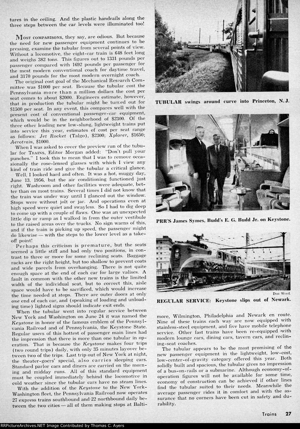 """""""The Ankle-View Train,"""" Page 27, 1956"""