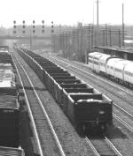 Coal ash train.