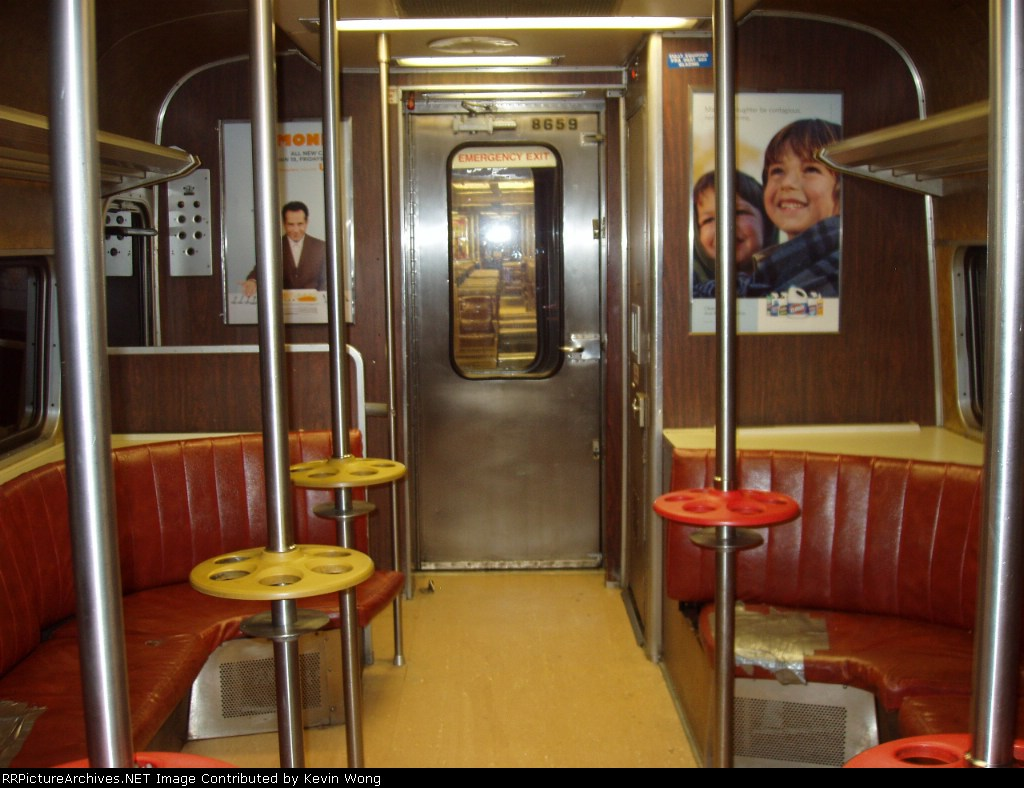 M-2 bar car interior