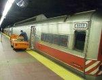 "Loading ice onto Metro-North/ConnDOT M-2 ""Cosmopolitan"" bar car 8659"