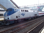 Amtrak P40DC 838 on Metro-North shuttle service (under lease)