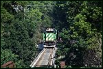 WE 6387 steps out onto Cascade Locks Trestle in Akron.