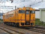 Yellow diesel car