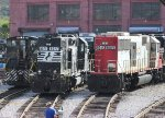 NS SW1500 #2225, NS GP38-2 #5077, CEFX SD60 #6001