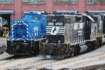 NS GP38-2 #5293 and CEFX SW1500 #1570