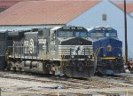 NS C40-9W #9253 and NS ES44AC #8103