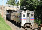 SPAX 438 brings the late afternoon train into the station