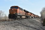 BNSF 7392 Leads a large consist of power west.
