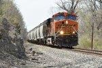 BNSF 6615 Rumbles east down the Topeka Sub.