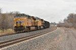 UP 8204 Screams west on an empty coal train.