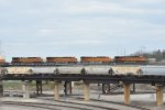 4 Ge's tote a stack train over the Kct in Kansas city Mo.