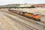 BNSF 4827 Drags a freight southbound toward the Fort Scott Sub.