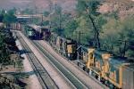Four trains meet