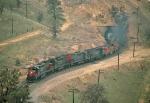 SP helper assists Santa Fe 991 train at tunnel 10