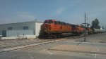 WB BNSF Interchange Grain train 3x3x2