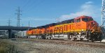 "The BNSF/Patrick Henry CEO ""Roaming the American West"" train arrives into Los Angeles, CA."