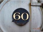 PRR 60 Number Plate