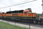 BNSF 3138 parked at argentine yard