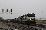 NS 7263 leads a WB coal train