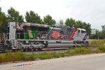 Rear artwork on tribute locomotive UP 1943