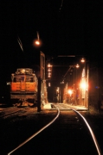 Milw Rd E29 at the loco shed at night