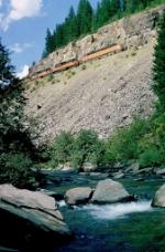 Milw Road XL Special approaching Steel Bridge