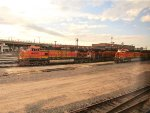 BNSF 4455 and 7813