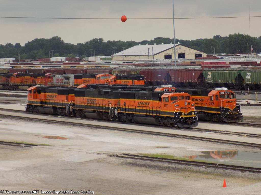 Assorted BNSF yard power