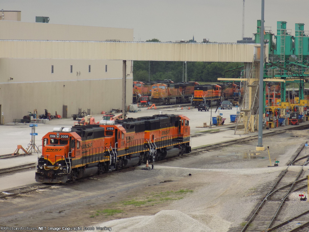 Assorted BNSF power