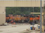 BNSF 5612, BNSF 8910, BNSF 6157, and BNSF 282