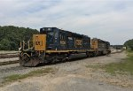 CSX SD40-3's 4066 and 4225 wait for assignment