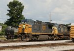CSX 7780 and 87 pull into the yard
