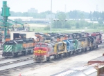 FURX 8117, BNSF 6742, BNSF 7251, BNSF 4263, KCS 6606, EMDX 753, FURX 3050
