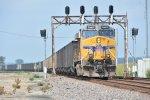 UP 5443 Dpu on a empty coal drag.