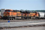 Westbound sand train eases to a stop