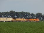 UP 6601 and BNSF 5256