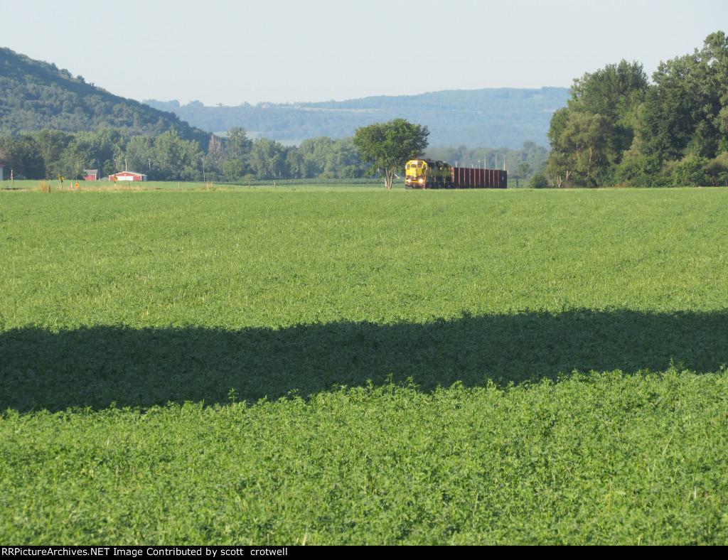 Into the farmlands
