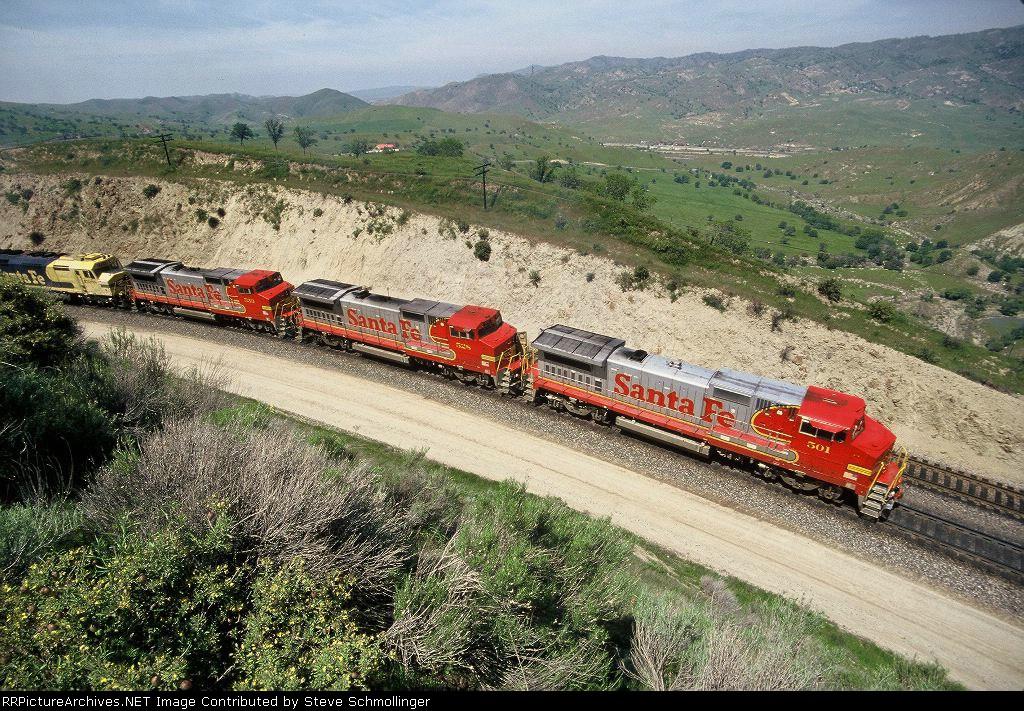 Santa Fe 971 train at Cliff