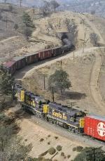 Mid-train helper on Santa Fe 5696 East at tunnel 10