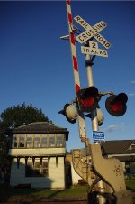 Tower watches over fewer tracks (and trains)