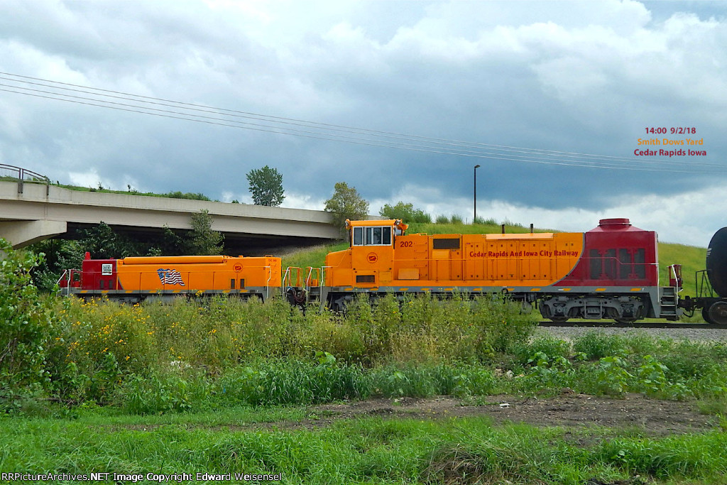 The #2 set pulls a cut out at Smith Dows yard