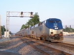 Northbound Amtrak Texas Eagle Train #22 With the Miller Lite Save the Taste Express