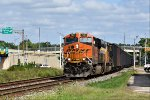 BNSF 7090 travels west on track 2.