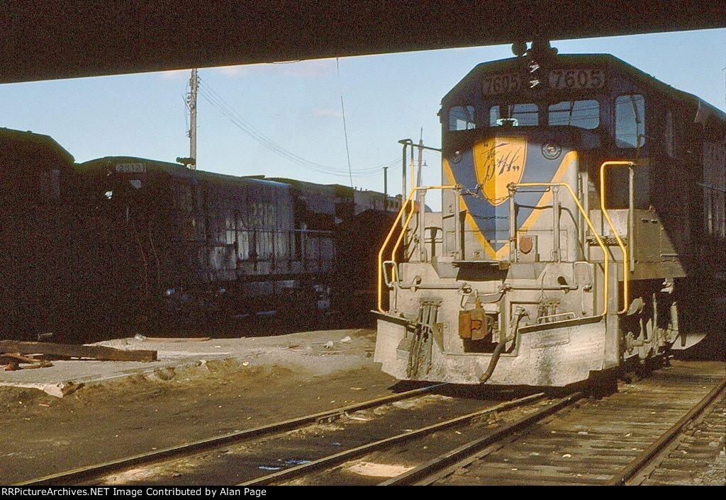 D&H GP39-2 7605 and U23B 2312