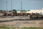 BNSF9242, CREX1403, BNSF5833 and others outside the depot