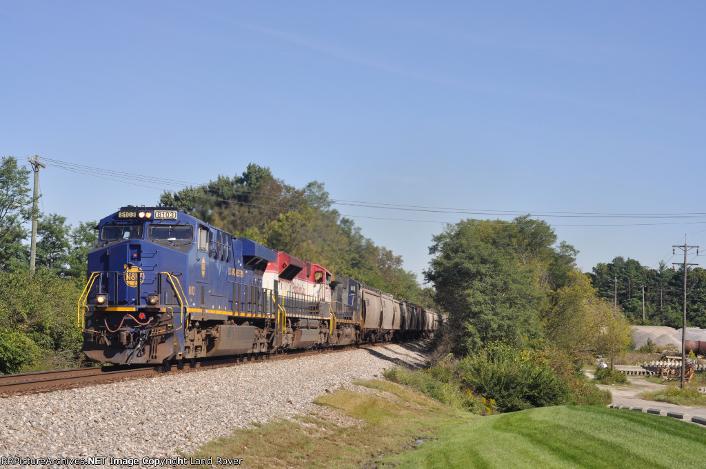 NS / N&W 8103 On NS 56 E Southbound At Frogtown Rd