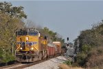UP 8102 On CSX Q 360 Westbound At The West End Passing CSX J 784