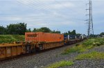 Schneider National Container In Double Stack Car