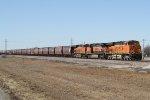Three GEs Run a Loaded Grain Train East